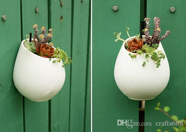 أواني الزهور السيراميك المزارعون ديكور الجدار شنقا إناء السيراميك وعاء المنزل الديكور حديقة الحلي القلم حامل diy وعاء
