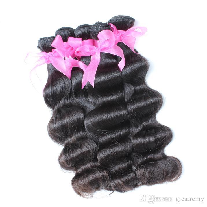 10 шт. / Лот Фабрика Дешевые оптом Монгольские необработанные волосы Remi Breakremy 100% необработанные человеческие волосы плетение волнистые индийские наращивания волос