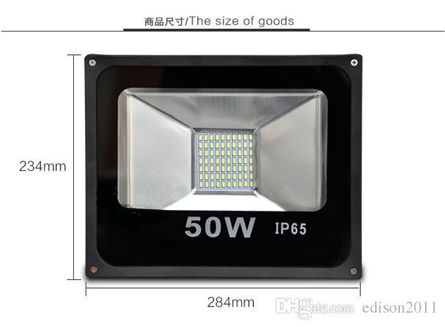 Свободный DHL SMD 5730 50W водонепроницаемый IP65 прожектор пейзаж лампа белый светодиодный прожектор открытый светодиодный прожектор 240V