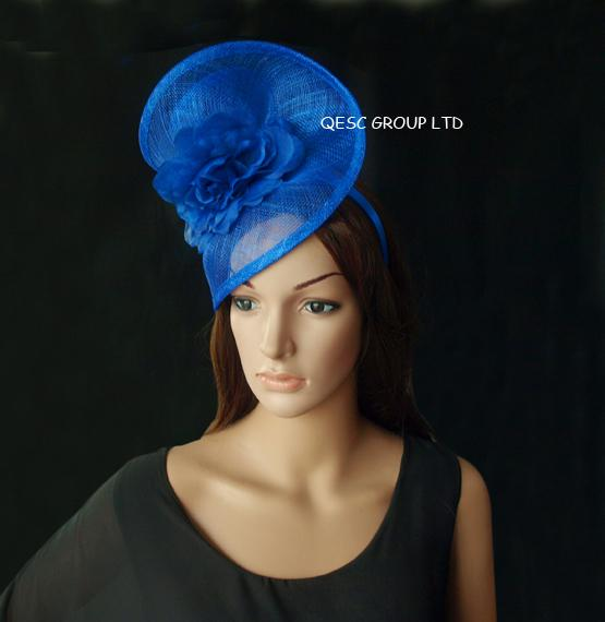 ROYAL BLU Sinamay Fascinator per Kentucky Derby, Melbourne Cup, le gare Ascot.