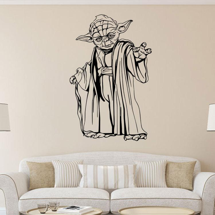 Yoda Wall Decals Star Wars Stickers Diy Home Decoration Wall Mural