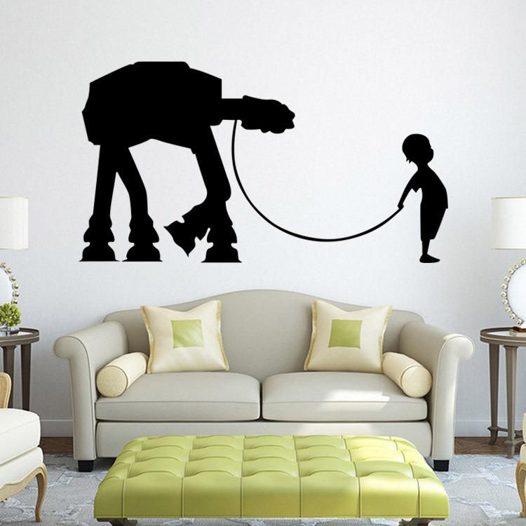 Star Wars Wall Decal Vinyl Sticker Boys Bedroom Wall Decor Star Wars ...