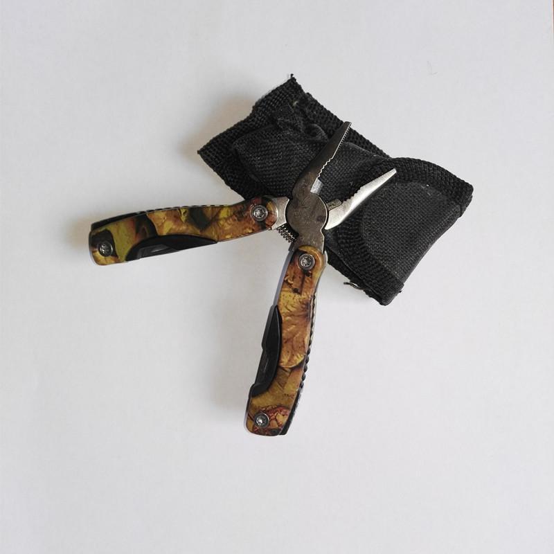 Alicate de aperto de dobramento de aço inoxidável multifuncional ao ar livre, espada, abridor de garrafas, chave de fenda s tamanho pequeno Multitools alicates qz005