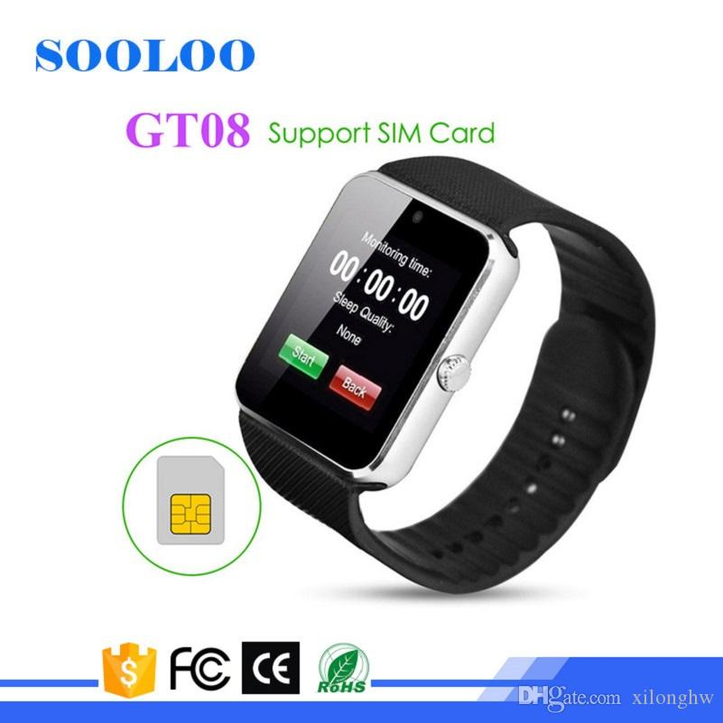 Sooloo GT08 Bluetooth Smart Watch with SIM Card Slot and NFC Health Watchs Smartphone Bracelet Smartwatch