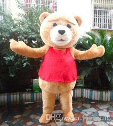 Ours en peluche de TED Taille adulte Halloween Costume de mascotte Cartoon Déguisement EVA