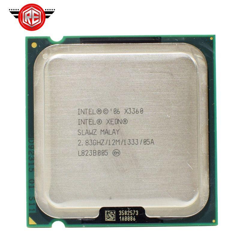 Intel Xeon X3360 SLAWZ SLB8X Processor 2.83GHz 12M Cache Quad Core LGA 775 TDP 95W Server CPU
