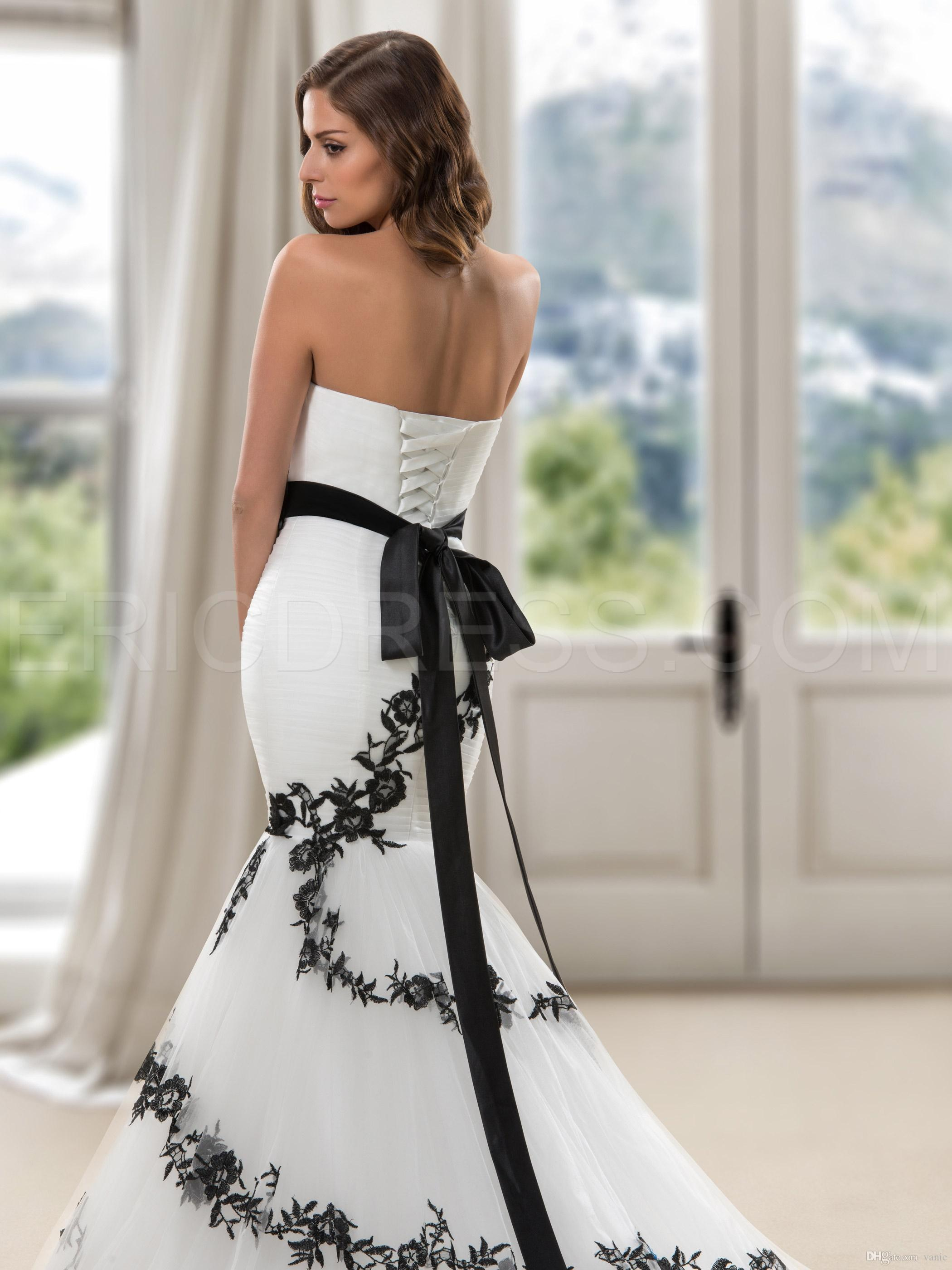 Nwd12 2018 Fashionable Of Bride Black Rose Flowers Mermaid Wedding ...