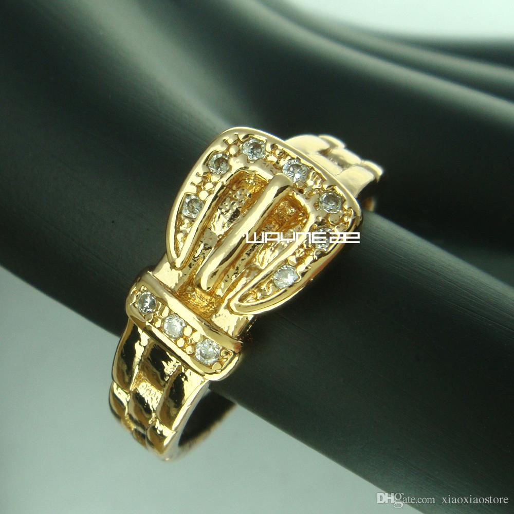 Очаровательное обручальное обручальное обручальное кольцо из золота 18 карат SzQ R241