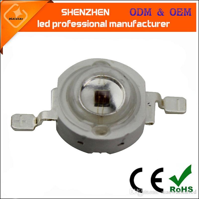 1W 3W 5W UV llevó diodo 365 nm 385 nm 405 nm púrpura diodos ultra violeta 3w alta bulbo de la lámpara de LED de potencia para fotocatalítica esterilización