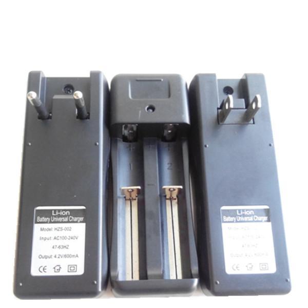 Ego chargeur UE ou US double cannelure lithium batterie e-cigarette usb chargeur pour 18650/10440/14500 chargeur de batterie