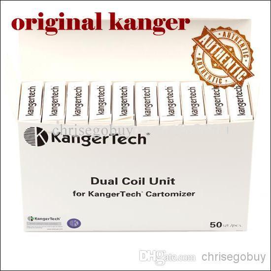 Original Kanger Dual Coil para Kangertech genitank giant II Protank 3 Mini Aerotank Mega turbo EVOD 2 de cristal topevod pro genitank emow coils