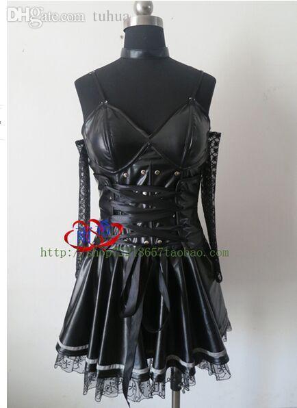 Costumes Halloween gros-sexy pour les filles anime note de mort Costume cosplay Misa Amane robe noire manchette cols