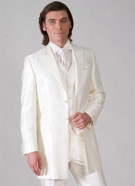ممتاز نمط ثلاثة زر العاج العريس البدلات الرسمية الذروة التلبيب رفقاء العريس رجل الزفاف فساتين حفلة موسيقية الدعاوى (سترة + سروال + سترة + التعادل) h370