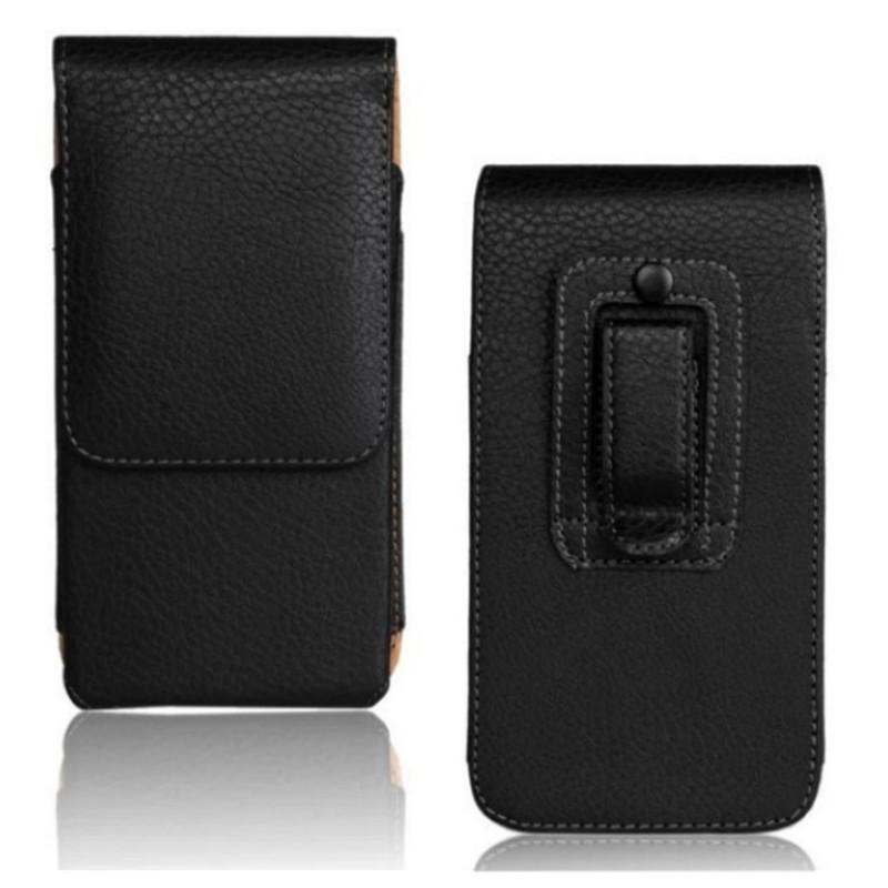 1PCS Preto Lichee padrão suave Case for Bolsa Asus Zenfone 2 Clip de cinto do homem