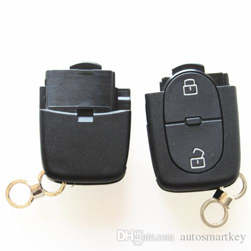 2 Buttons Folding Car Remote Key Shell Case Replacement Car Key Cover For Volkswagen Vw Golf Polo Key BLANK