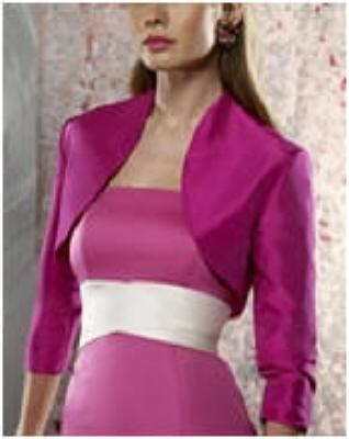 Bolero Jackets for Prom Dresses Satin Special Occasion Jackets 3/4 Long Sleeves Wedding Shawls Boleros Wraps Bridal Capes