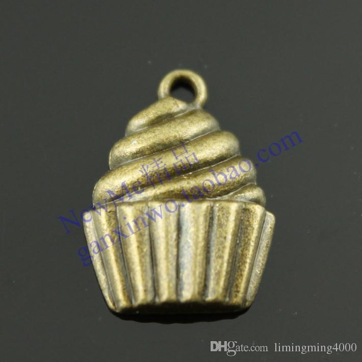 Spedizione gratuita 30pcs 21 * 15mm retrò gioielli fai da te accessori bronzo antico ciondoli torta