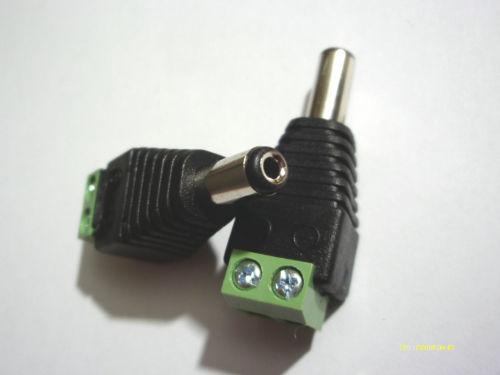 1000 pcs DC 5.5mm x 2.1mm mâle LED Caméra CCTV DC adaptateur de prise électrique