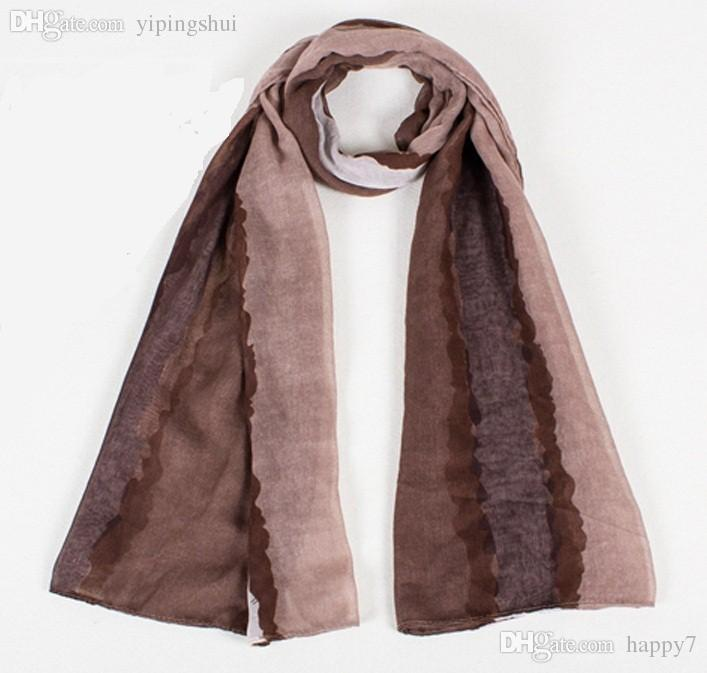 Wholesale-Autumn and winter spell color Polyester scarves 180*90cm