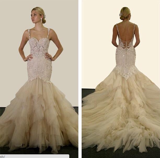 Großhandel 2015 Vorabend Des Milady Spitze Mermaid Brautkleider ...
