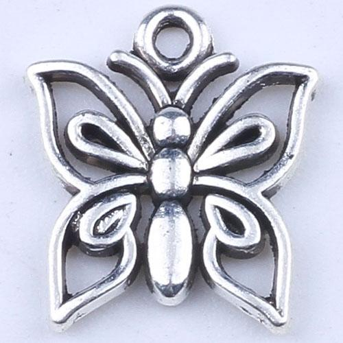 2016 DIY ретро серебро / медь бабочка кулон браслеты ожерелье перфорированные старинные подвески металлические ювелирные изделия решений 1000 шт. / лот 1759 м