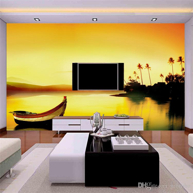 Rivers And Boat Wall Mural Photo Wallpaper Large Wallpaper Art Home ...