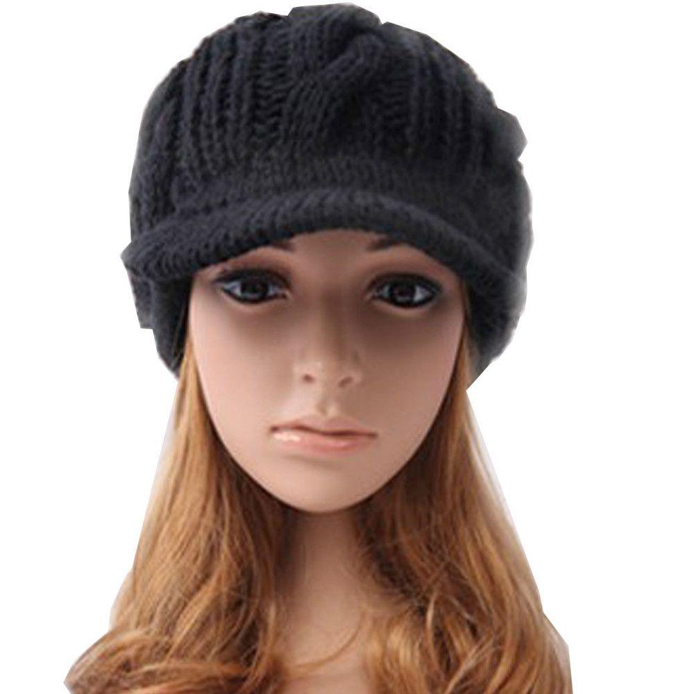 Atacado-Etang frete grátis homens mulheres slouchy cabo cabo de malha malha Beanie Crochet Rib Hat Brim Bed Newsboy