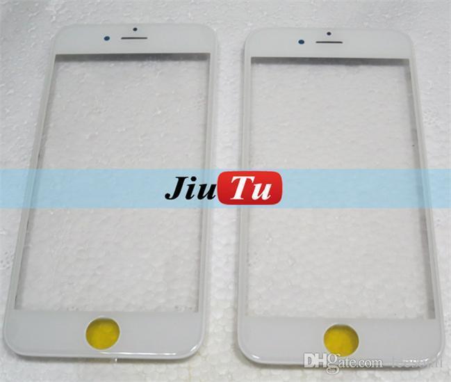 5 pçs / lote painel touch screen digitador de vidro com moldura moldura + oca para iphone 6/6 s / 6/6 s plus 5.5 4.7 polegadas