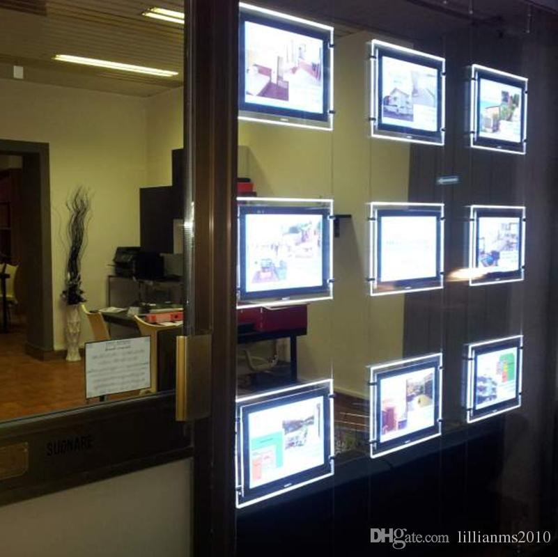 A3 /& A4 Real Estate Window Hanging Led Backlit Picture Frame Display Sign Holder