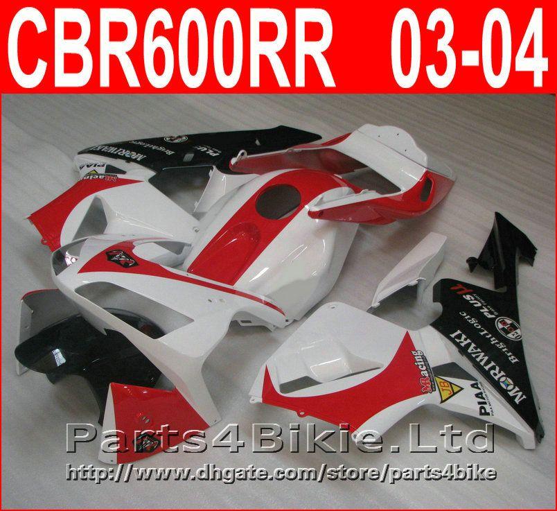 100% Injection molding White red body parts for Honda fairings CBR600RR 2003 2006 fairing kit CBR 600 RR CBR 600RR 03 04 SJUQ