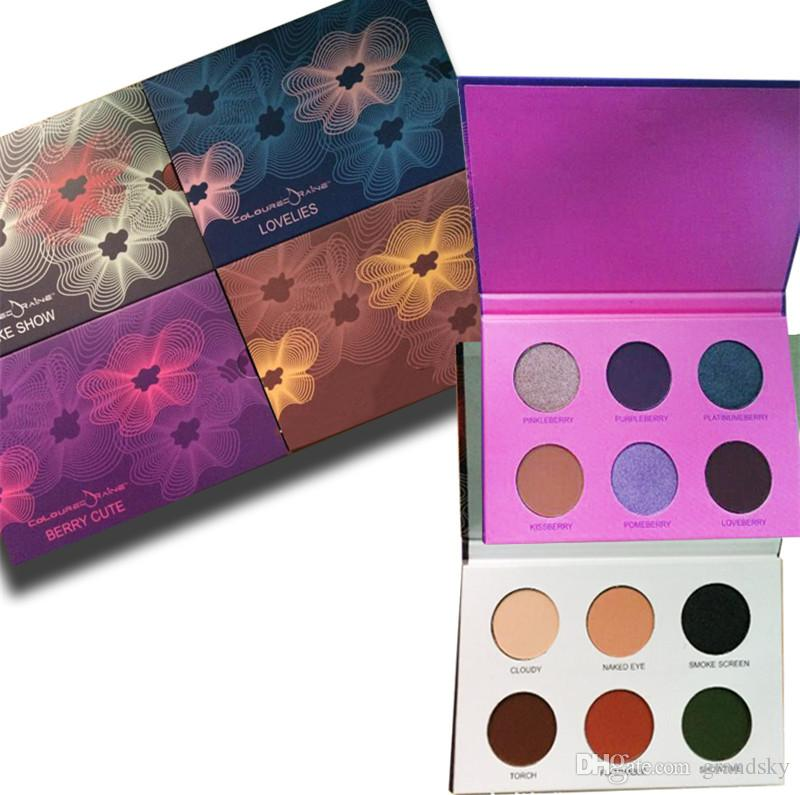 High Quality makeup mix Coloured lovelies/ Beauty Rust/Smoke Show/Berry Cute 6 color eyeshadow palette /eyeshadow palette