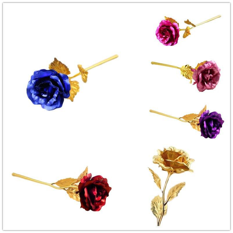 24K Golden Foil Plated Rose Flower Valentine/'s Day Romantic Gifts for Couples