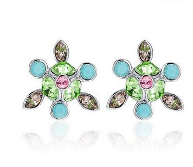 brincos de mulheres de flor de diamante colorido (yt-jd) ddgdg
