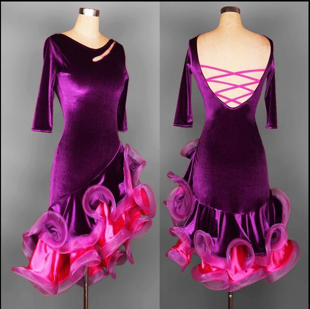 2019 Adult/Child Custom Plus Size Latin Dresses Ballroom Dancing Dresses  China Rumba/Samba/Cha Cha/Kaka Dance Dress For Lady/Girls FN035 From ...