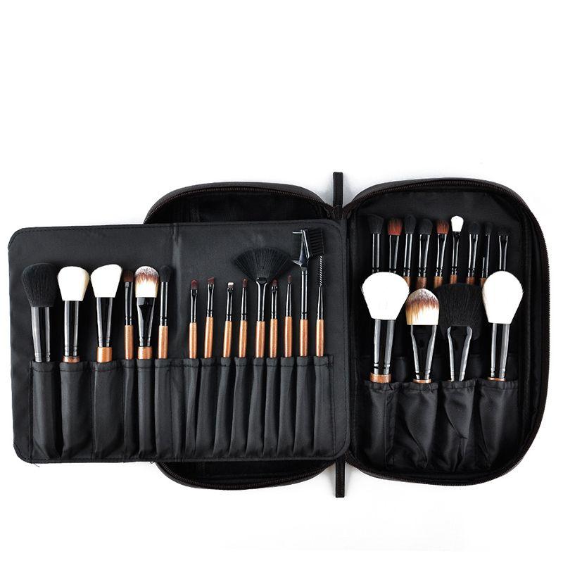 28 adet Makyaj Fırçalar Set Pro Pudra Allık Vakfı Göz Farı Makyaj Fırçalar Kozmetik Fırça Seti Pu Deri Kılıf Ile