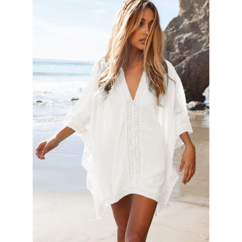 Vestidos Playa V Yaka uzun kollu kimono kollu tığ beachwear Mayo Kapak Up Saida De Praia mayo kapak ups