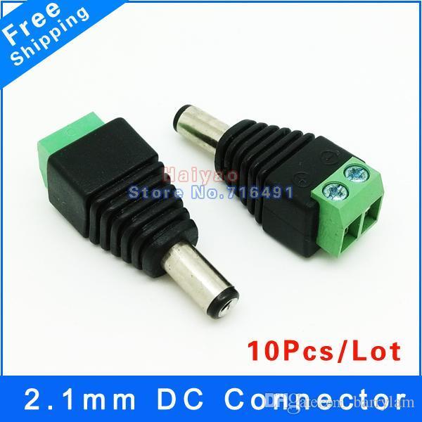10 adet 2.1mm * 5.5mm Erkek DC Güç Jak Fiş Adaptörü Bağlayıcı cctv kamera için DC Güç Tak Güvenlik CCTV Kamera Sistemi için