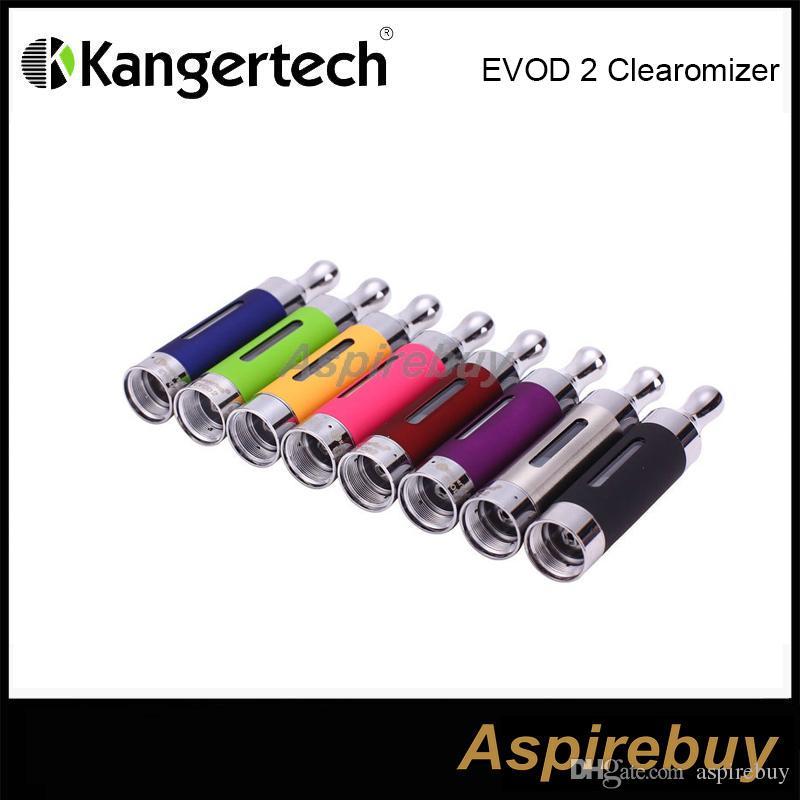 100% Original Kanger EVOD 2 Atomizer 1.5ml Bottom Dual Coil EOVD 2 Glass Atoomizer EGO Thread Kangertech BDC Tank