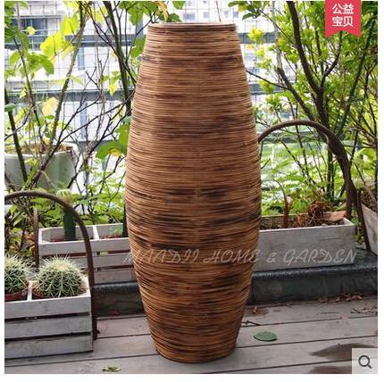 restaurar maneras antiguas de la tierra de carbn de bamb quemaduras jarrones barriles de flores
