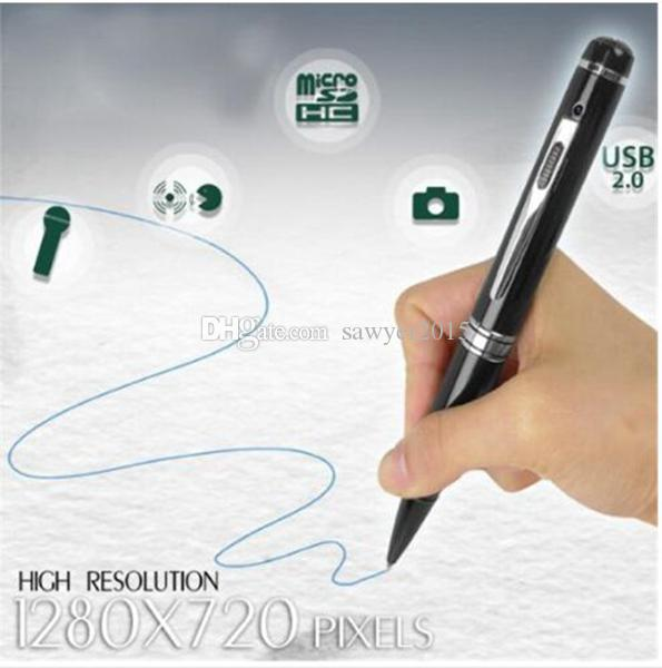 HD 1080P H2.64 Pen Camera Digital Pen pinhole Camera Mini voice Video Recorder motion detection DVR Camcorder DV silver/golden 30pcs/lot