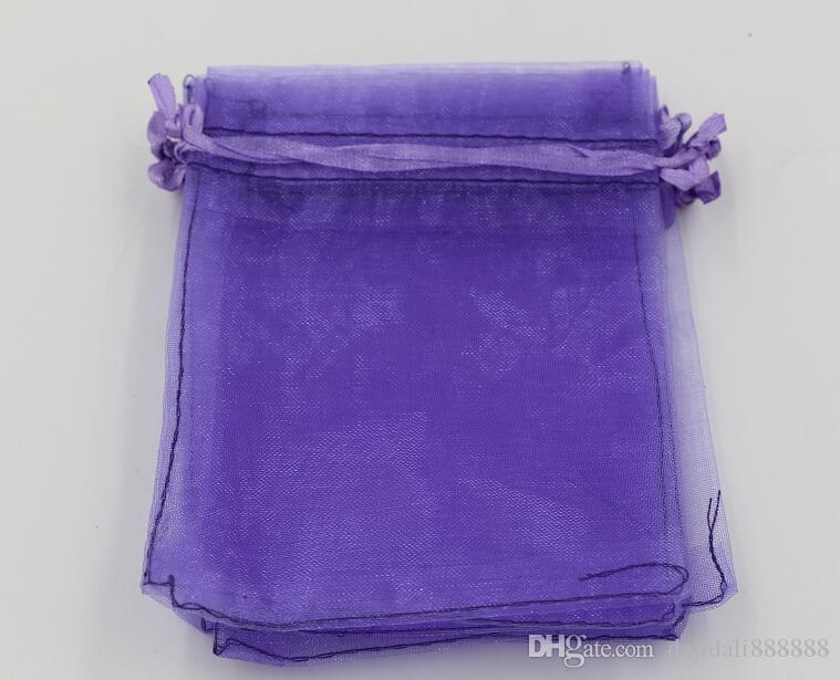 MIC Light Purple Organza Biżuteria Prezent Prezent Torby do ślubu Favors, Koraliki, Biżuteria 7x9cm 9x11cm 13 x 18cm (314)