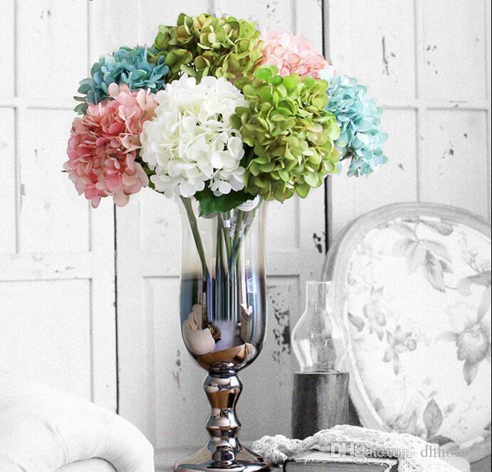 Yüksek top Ortanca Yapay Ipek Çiçek Düğün Centerpieces Buket 55 cm dia 20 cm Süsleme Çelenk Ev Dekorasyon 7 Renk SF019