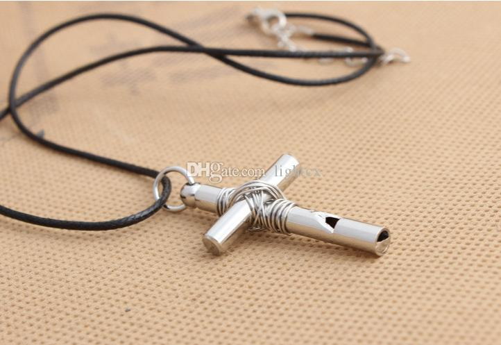 Wholesale awesome whistle cross shape pendants necklace girls unique awesome whistle cross shape pendants necklace girls unique silver cross pendant necklaces women men cross jewelry aloadofball Images