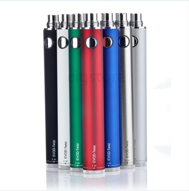 100% гарантия качества EHOD EGO C Twist Battery 650mah 900mah 1100mah 1300mah evod twist kanger батареи evod ego-c крутить батареи