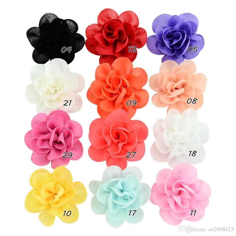 verschiedene Farben Haarblume CHIFFON Ansteckblume Haarspange  Haarblüte