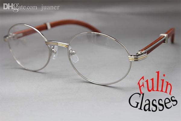 Toptan-SıCAK Ahşap 7550178 Ahşap Gözlük tasarımcısı Unisex Alaşım Gözlük Boyutu: 57-22-135 mm