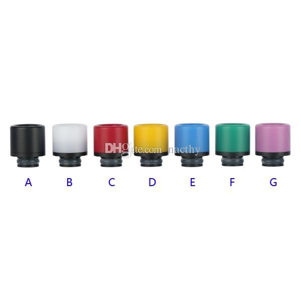 Rich Colors 510 Grip grandangolare POM Drip Tip 510 Bocchini atomizzatore per 510 EGO Evod Vaporizzatore RDA Vape Mods E Sigarette