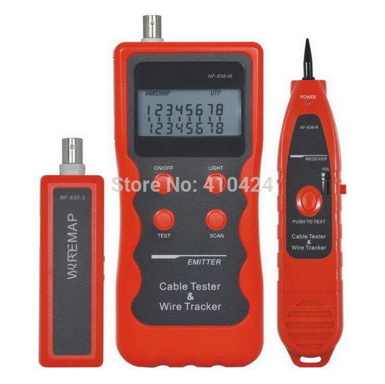 NF-838 Network USB Coaxial Lan BNC Cable Tester Telephone RJ45 RJ11 Wire Tracker order<$18no track