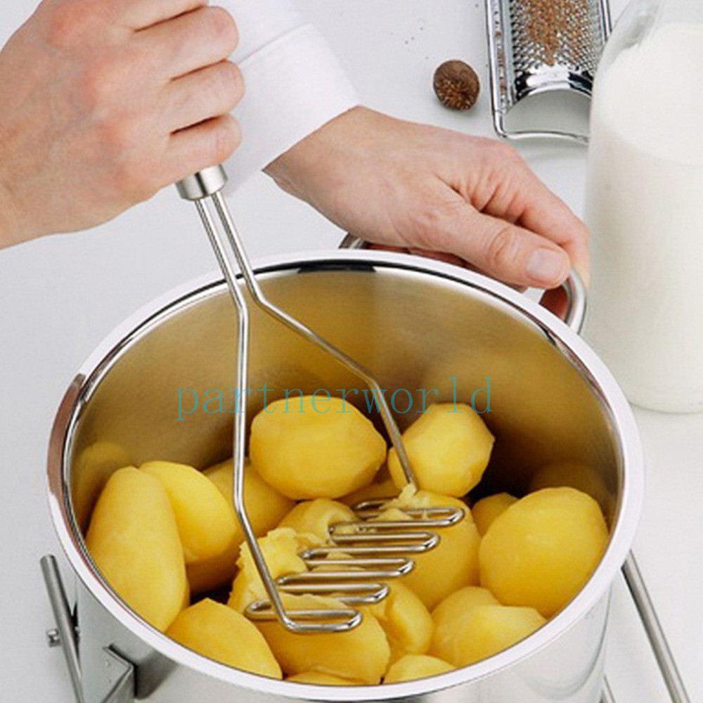 Mutfak Alet Paslanmaz Patates Ezici Kalıp Yumurta Sebze Meyve Kırıcı Mutfak Aracı Gümüş Renk Ücretsiz Kargo