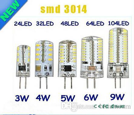 G4 12V 110-220V LED Lâmpada de milho 3W 4W 5W 6W 9W LED Lâmpada 3014 Bulbo de milho Lâmpadas de silicone Candelabro Candelabro Luz Decoração Home